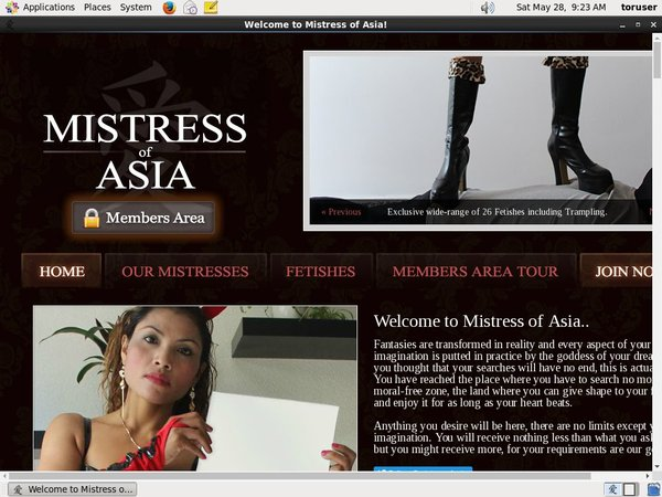 Mistress Of Asia 帐号