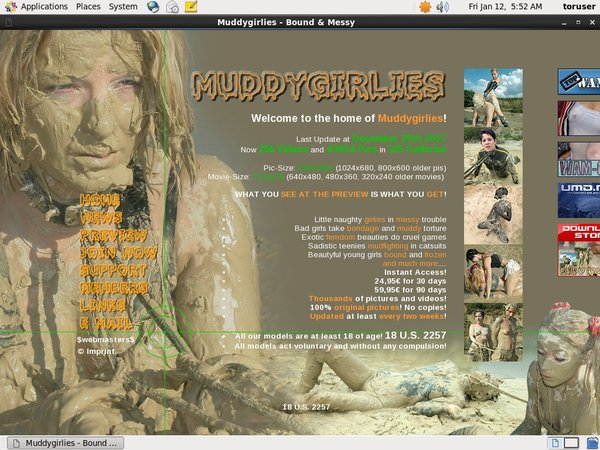 Muddy Girlies パスワード