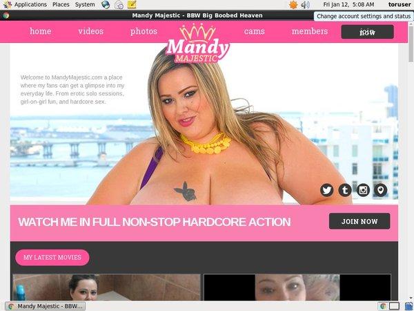 Mandy Majestic Avec IBAN / SEPA
