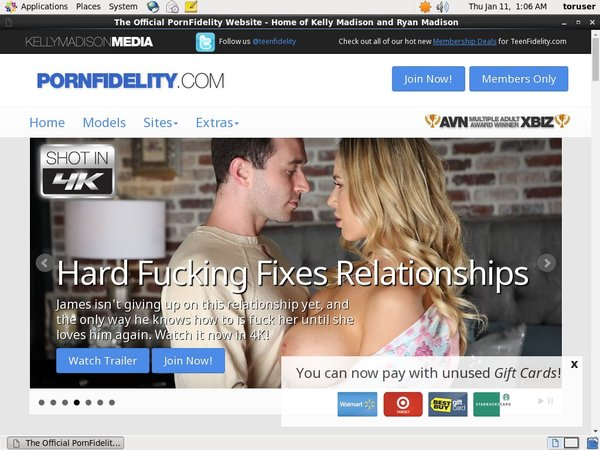 Porn Fidelity Acount