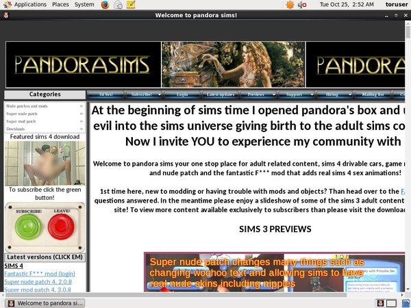 Pandora Sims Paypal Account