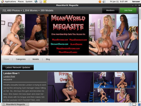 Meanworld User And Pass