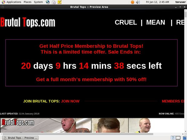 Brutal Tops Checkout