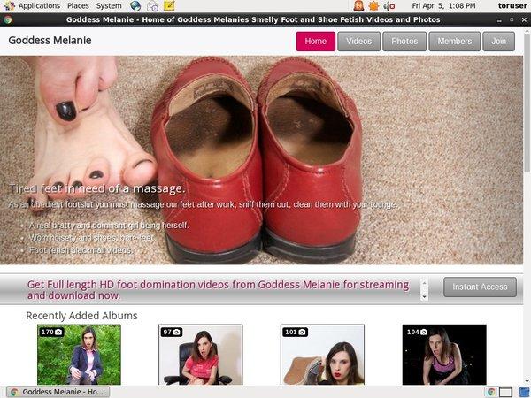 Goddessmelanie.com Login Free