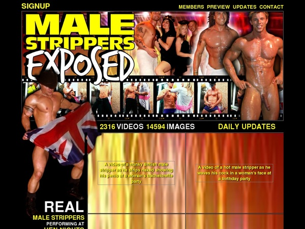 Malestrippersexposed Sign Up Page