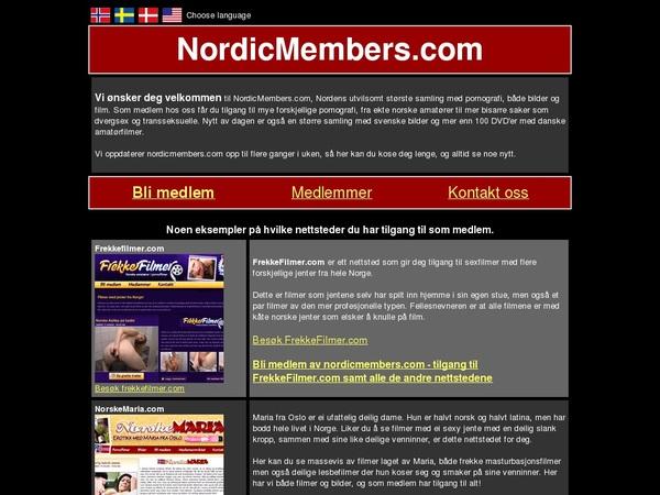 Nordicmembers Accont