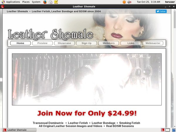 Leather Shemale Sing Up
